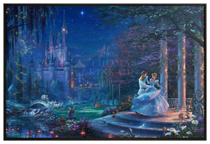 "Cinderella Dancing in the Starlight - 40"" x 60"" Canvas Wall Murals (Onyx Black Frame) - ArtOfEntertainment.com"
