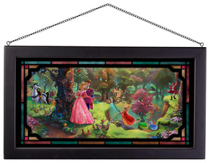 "Sleeping Beauty - 13"" x 23"" Framed Glass Art 107192"