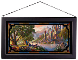 "Beauty and the Beast II - 13"" x 23"" Framed Glass Art 107197"