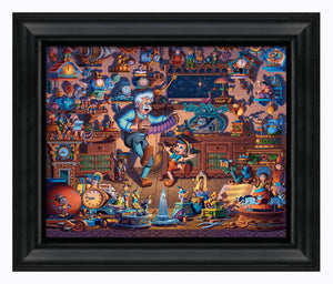 "Pinocchio - 19"" x 22.5"" Framed Canvas Prints 108856"