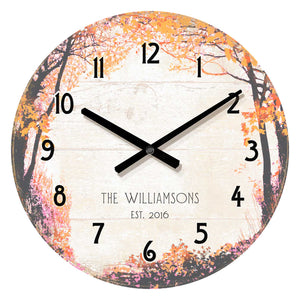 "Personalized Magic Forest - 21"" Clock - ArtOfEntertainment.com"