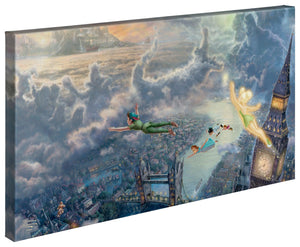 Tinker Bell and Peter Pan Fly to Neverland - Gallery Wrapped Canvas