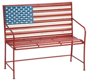 Stars and Stripes Metal Bench 109000