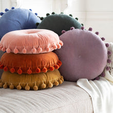 Load image into Gallery viewer, Pom Pom Pillows - Pink