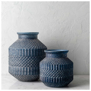 Blue Pearl Vases (Set of 2) 109052