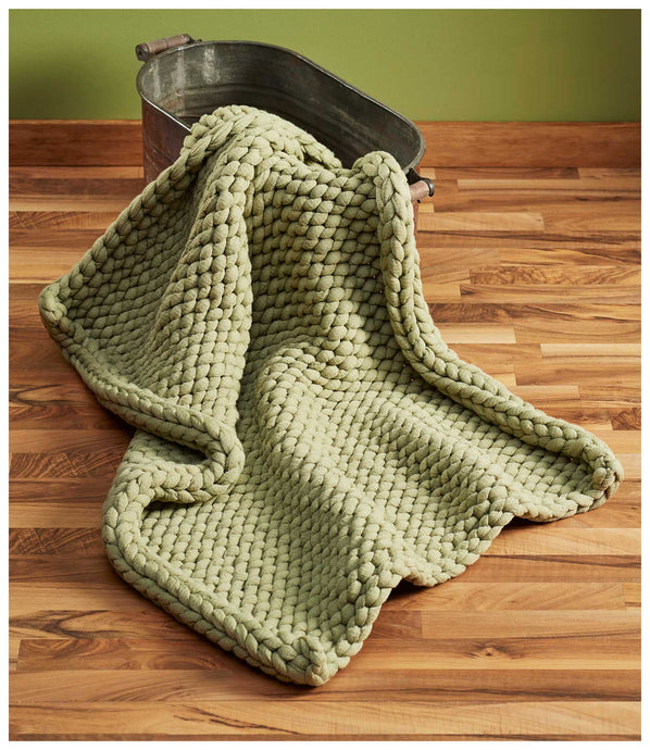 Sage Chunky Knit Throw Blanket 109072