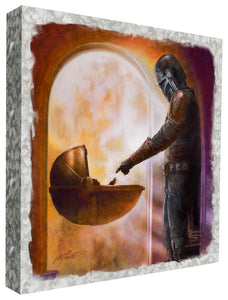 "The Mandalorian - Turning Point - 14"" x 14"" Metal Box Art - ArtOfEntertainment.com"
