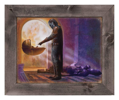The Mandalorian - Turning Point - Framed Metal Print - ArtOfEntertainment.com