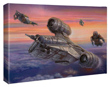 "Load image into Gallery viewer, The Mandalorian - The Escort - 10"" x 14"" Gallery Wrapped Canvas 109967"