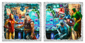 "The Avengers - Set of 2 - 14"" x 14"" Metal Box Art - ArtOfEntertainment.com"