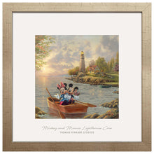 "Load image into Gallery viewer, Mickey and Minnie Lighthouse Cove - 17.5"" x 17.5"" Prominence 110146"