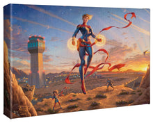"Load image into Gallery viewer, Captain Marvel - Dawn of a New Day - 10"" x 14"" Gallery Wrapped Canvas - ArtOfEntertainment.com"