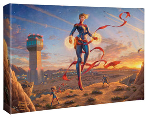 "Captain Marvel - Dawn of a New Day - 10"" x 14"" Gallery Wrapped Canvas - ArtOfEntertainment.com"