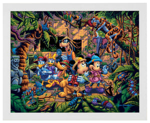 Mickey and Friends Exploring the Jungle - Standard Art Prints