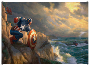 "Captain America - Sentinel of Liberty -  10"" x 14"" Gallery Wrapped Canvas - ArtOfEntertainment.com"