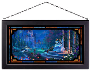 "Cinderalla Dancing in the Starlight - 13"" x 23"" Framed Glass Art 111692"