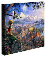 "Load image into Gallery viewer, Pinocchio Wishes Upon A Star - 14"" x 14"" Gallery Wrapped Canvas 50258"