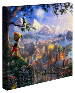 "Pinocchio Wishes Upon A Star - 14"" x 14"" Gallery Wrapped Canvas 50258"