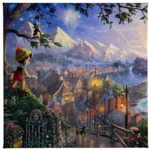 Load image into Gallery viewer, Gallery Wrapped Canvas Pinocchio Wishes Upon A Star