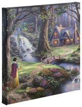 "Load image into Gallery viewer, Snow White Discovers the Cottage - 14"" x 14"" Gallery Wrapped Canvas 50262"