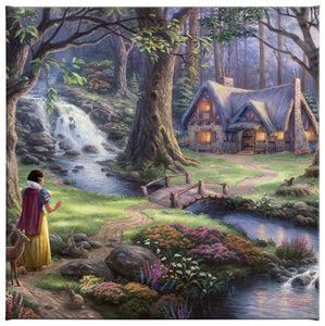 Gallery Wrapped Canvas Snow White Discovers the Cottage