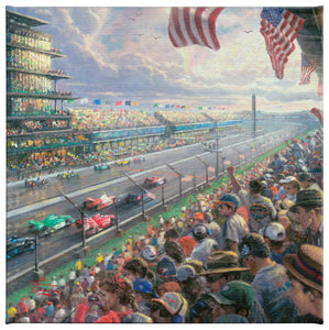 "Indy 500 (Set of 3) - 14 x 14 Gallery Wrapped Canvas - 14"" x 14"" Gallery Wrapped Canvas - ArtOfEntertainment.com"