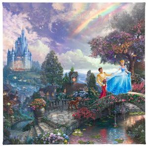 Gallery Wrapped Canvas Cinderella Wishes Upon a Dream
