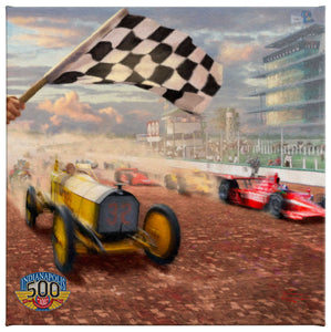 Gallery Wrapped Canvas Indy 500 (Set of 3) - 14 x 14 Gallery Wrapped Canvas