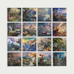 "Disney Ultimate Collection (Set of 16 Wraps) - 14"" x 14"" Gallery Wrapped Canvas - ArtOfEntertainment.com"