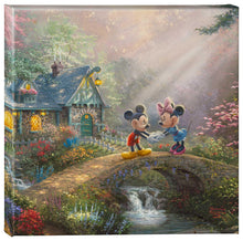 Load image into Gallery viewer, Mickey & Minnie Sweetheart Bridge - Gallery Wrapped Canvas