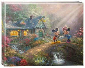 Mickey & Minnie Sweetheart Bridge - Gallery Wrapped Canvas