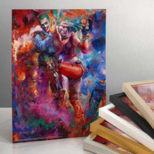 "Load image into Gallery viewer, The Joker and Harley Quinn - 14"" x 11"" Art Print 91409"