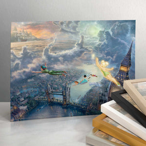 "Tinker Bell and Peter Pan Fly to Neverland - 11"" x 14"" Art Print 96349"