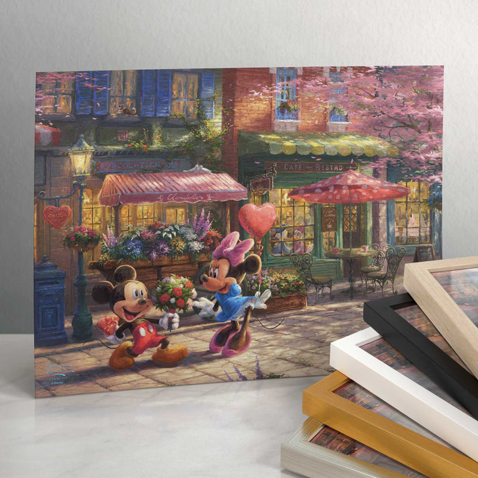 Disney Mickey and Minnie - Sweetheart Cafe - Standard Art Prints - ArtOfEntertainment.com