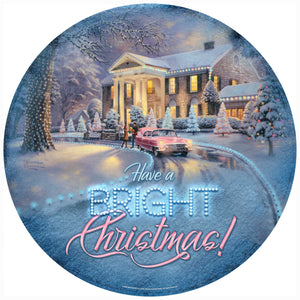 "Graceland Christmas - 21"" Round Wood Sign 97927"