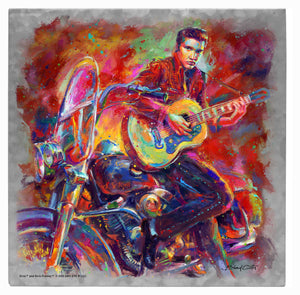 "The King of Rock and Roll - 10"" x 10"" Metal Box Art 97929"