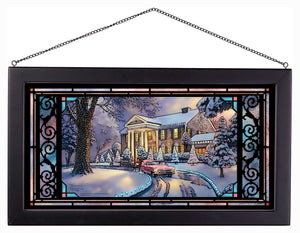"Graceland Christmas - 13"" x 23"" Framed Glass Art 97931"