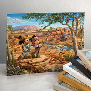 "Mickey And Minnie In The Outback - 11"" x 14"" Art Prints 99481"