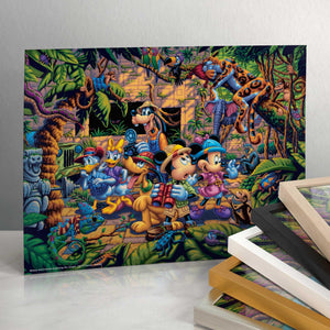 "Mickey and Friends Exploring the Jungle - 11"" x 14"" Art Prints 99508"