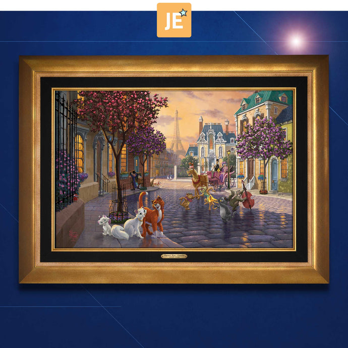 Aristocats - Limited Edition Canvas (JE - Jewel Edition) - ArtOfEntertainment.com
