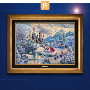 Beauty and the Beast's Winter Enchantment - Limited Edition Canvas (JE - Jewel Edition) - ArtOfEntertainment.com