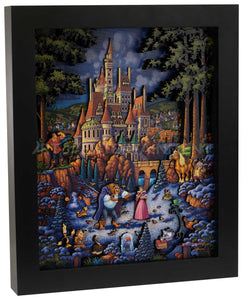 "Beauty and the Beast Finding Love - 13"" x 16"" Stratascape"