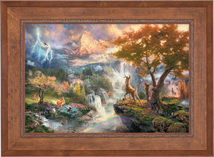 Bambi's First Year - Limited Edition Canvas (JE - Jewel Edition) - ArtOfEntertainment.com