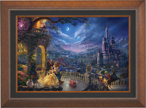 Beauty and the Beast Dancing in the Moonlight - Limited Edition Canvas (JE - Jewel Edition) - ArtOfEntertainment.com