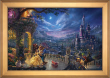 Load image into Gallery viewer, Beauty and the Beast Dancing in the Moonlight - Limited Edition Canvas (JE - Jewel Edition) - ArtOfEntertainment.com