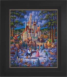 Beauty and the Beast Finding Love - Limited Edition Canvas (SN - Standard Numbered) - ArtOfEntertainment.com