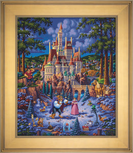 Beauty and the Beast Finding Love - Limited Edition Canvas (AP - Artist Proof) - ArtOfEntertainment.com