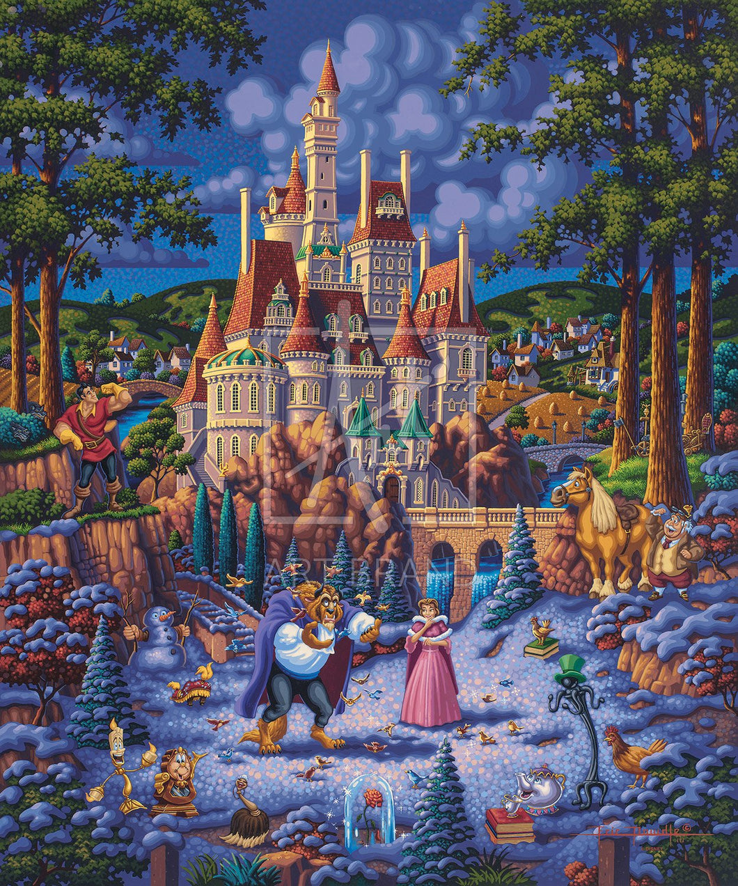 Beauty and the Beast Finding Love - Limited Edition Canvas - AP - (Unframed)