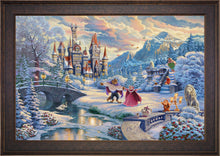 Load image into Gallery viewer, Beauty and the Beast's Winter Enchantment - Limited Edition Canvas (JE - Jewel Edition) - ArtOfEntertainment.com
