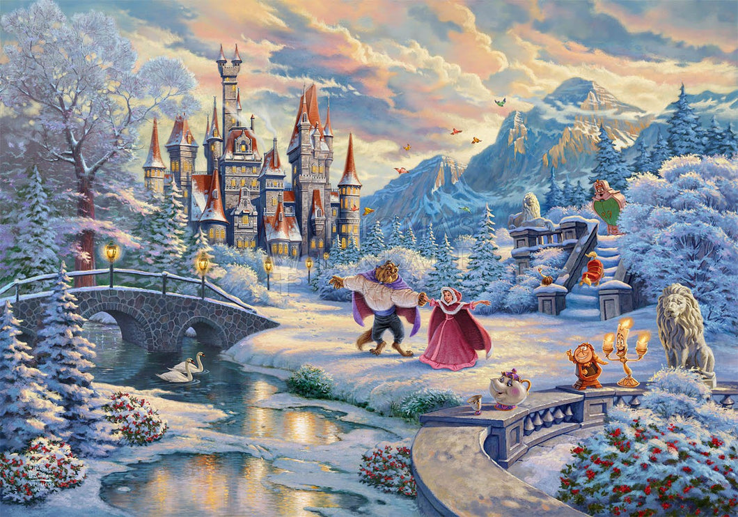 Beauty and the Beast's Winter Enchantment - Limited Edition Canvas - JE - (Unframed)